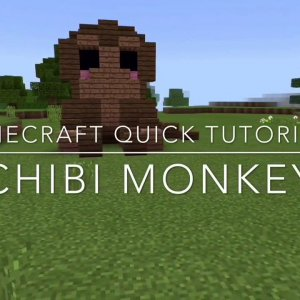 ✔️ Minecraft Quick Tutorials | Baby Monkey Chibi